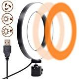 """6"""" Selfie Ring Light Without Stand - Compatible with Most Tripod, 3 Color Models & 10 Dimmable Brightness, Small LED Makeup Lighting for Video Conferencing, Streaming, Laptop, Tiktok, Zoom"""